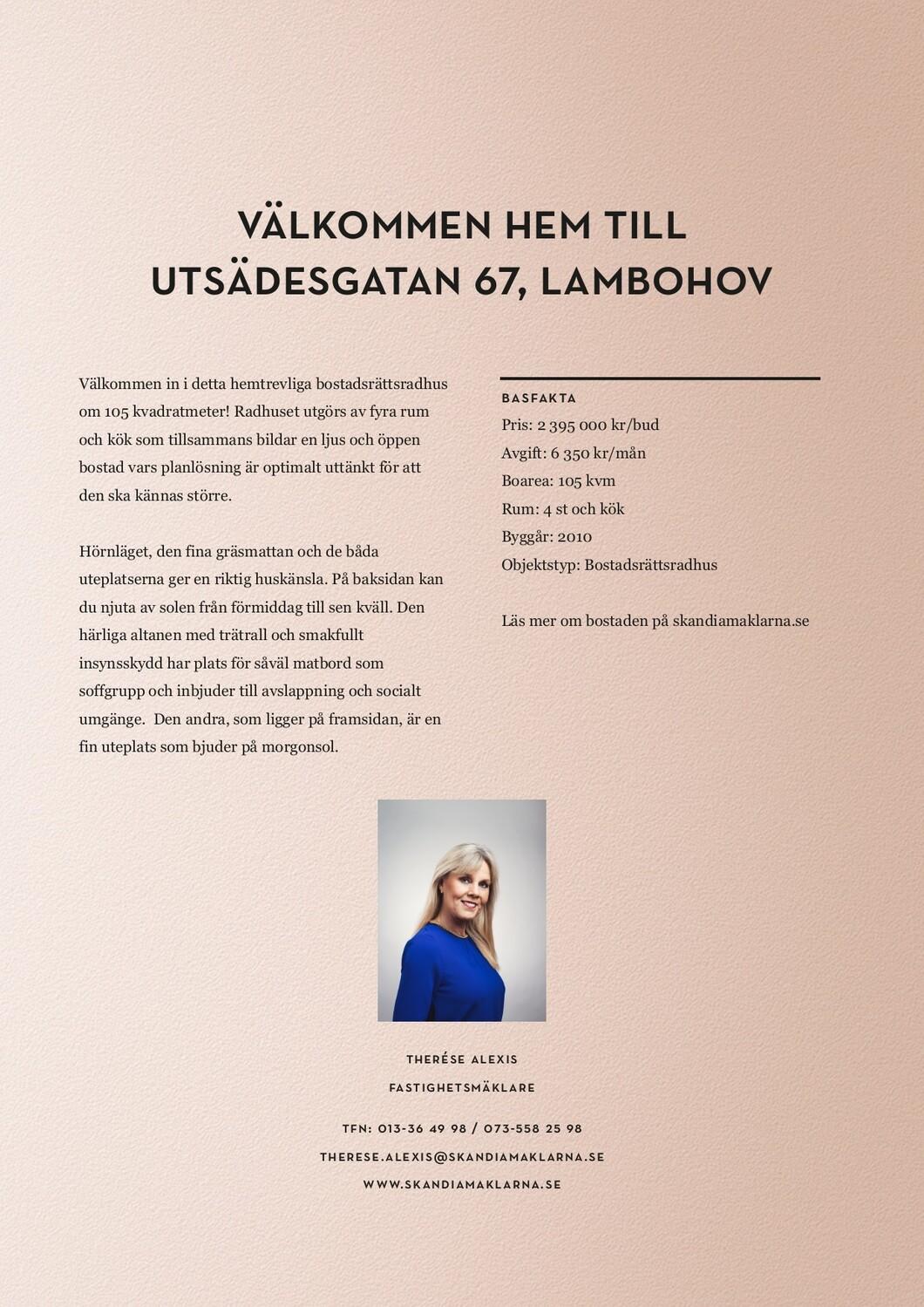 Picture of: Digital Broschyr Utsadesgatan 67